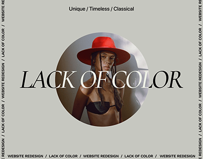 Lack of Color Online Store Redesign