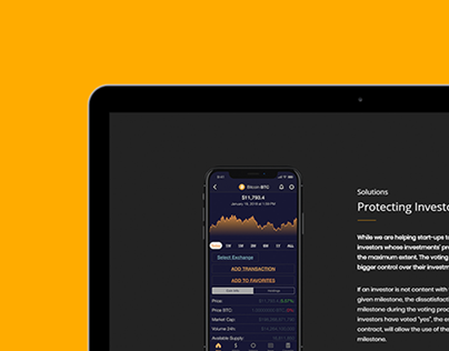 Cryptocurrency WordPress Theme - Responsive Tablet View