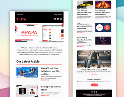 PAPA   MailChimp Email Template