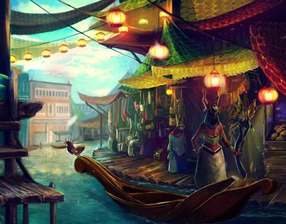 Flotilla City: Environment Concept