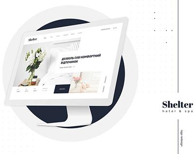 Shelter hotel&spa - website design