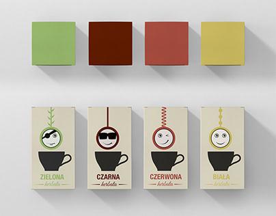 Emoticon Tea packaging design