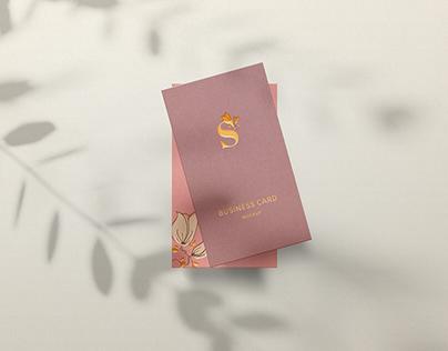 Free Vertical Business Card Mockup