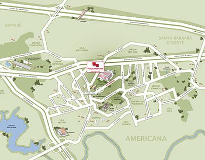 mapa shopping americana