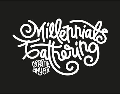 Lettering: Millennials Gathering - Karanganyar