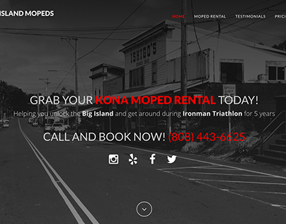 Big Island Moped Rentals One-page Website Design