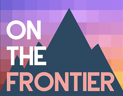 """On The Frontier"" Podcast Art"
