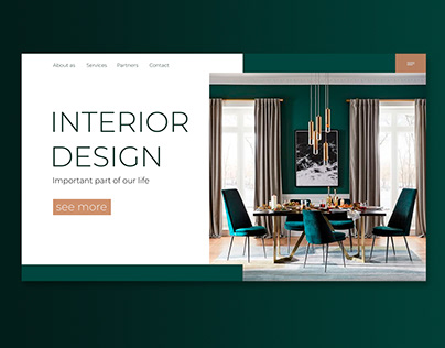 Home page of the interiors website