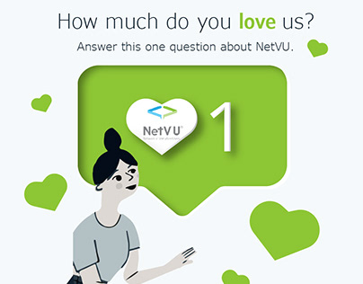 How Much Do You Love Us - Email Design + Illustration