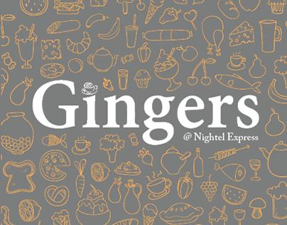 Gingers | Menu Design
