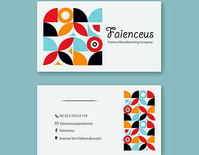 Faience company business card's example/modèle