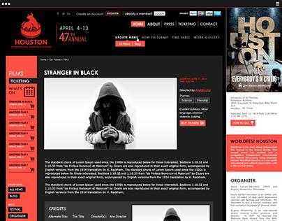 Web Design - International Short Film Festival