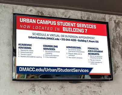TV ad for DMACC Urban Campus