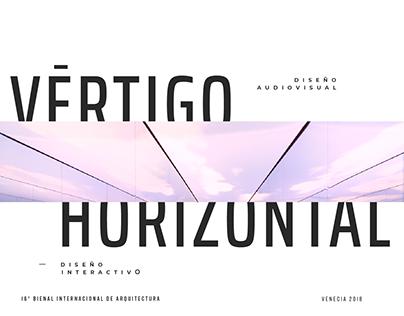 VÉRTIGO HORIZONTAL — Diseño interactivo y audiovisual