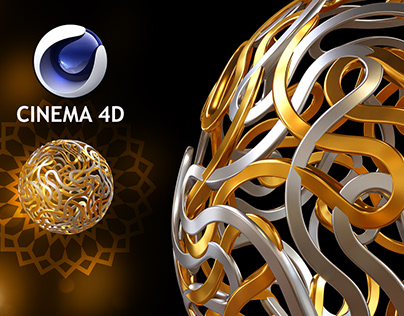 How to create arabesques modeling by cinema 4d