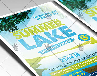 Summer Lake - Premium Flyer PSD Template