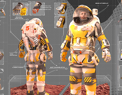 """""""MX Ray"""" Spacesuit for Mars"""
