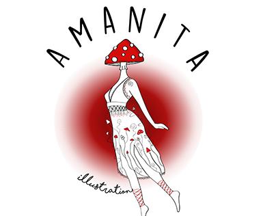 Amanita Illustration