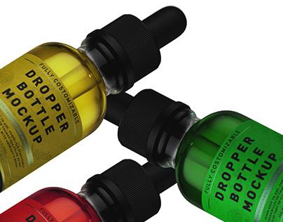Dropper Bottle Mockup + Free Version