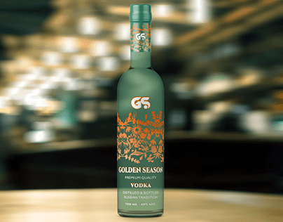 """GOLDEN SEASON"" vodka label"
