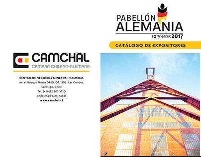 Catálogo Pabellón Alemania CAMCHAL Diptico
