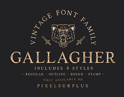 GALLAGHER - FREE VINTAGE SERIF FONT