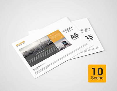 horizontal brochure design - a5 flyer mockup horizontal on behance