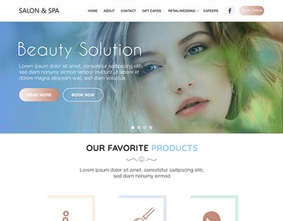 Salon WordPress Website Design By AppTech Mobile