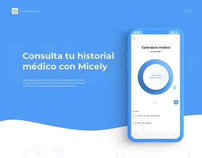 Micely, cancer App. (UX-UI Design healthcare)