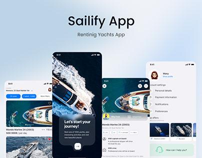 Sailify App - Renting Luxury Yacht