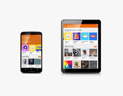 Google Play Music Concierge Illustrations
