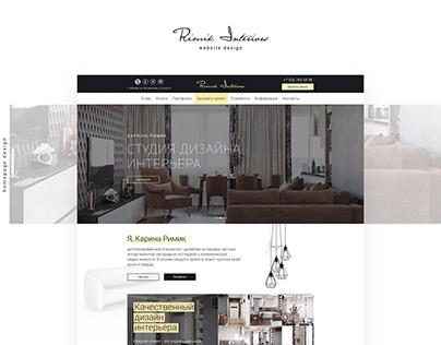 Rimik Interiors - website v1.1