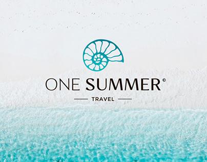 Логотип One Summer / Туризм, путешествия