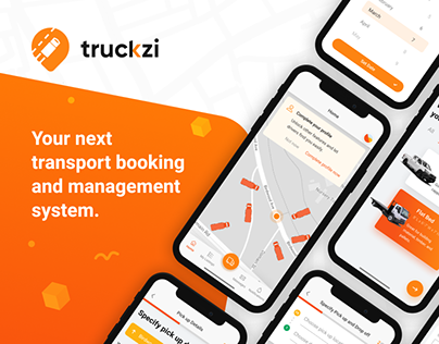 UI/UX Design for transport booking system mobile app.