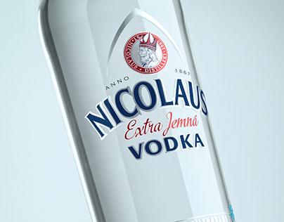 Nicolaus Vodka CGI Bottle Visualization