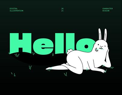 White Rabbit - Digital Illustration