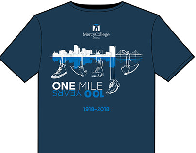 T-shirt: Mercy College 1 Mile/100Years Walk