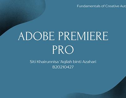 Adobe Premiere Pro Task
