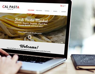 Cal Pasta - Website Design