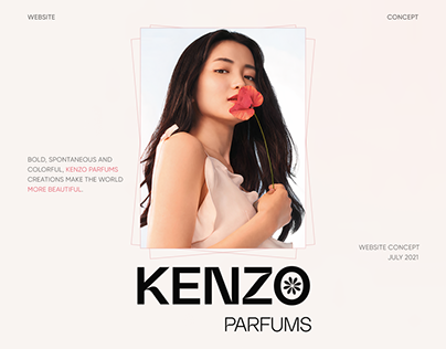 Kenzo Parfums Website Redesign Concept