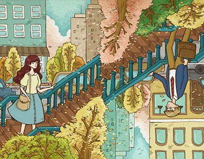 The Cover Illustration ofCircle Love Novel