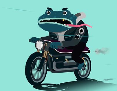 Biker Frog