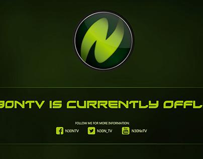 Twitch Channel Design für NeonTV