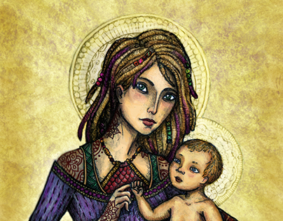 Mother and Child (Hippie)
