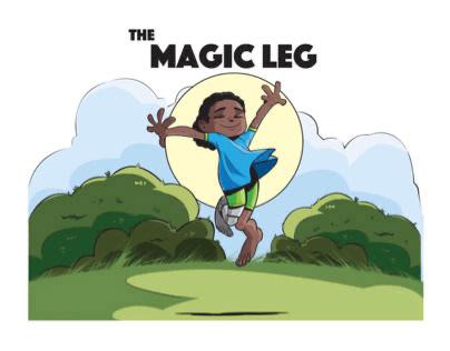 "BOOK COVER - ""THE MAGIC LEG"""