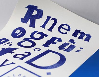 Typefaces Specimen – Typeface design & poster