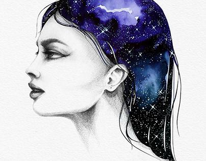 THE GIRL WITH/ nebulalocks
