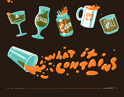 """Poster """"A glass can only spill what it contains"""""""