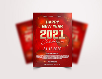 Happy New Year 2021 Flyer Design - FREE