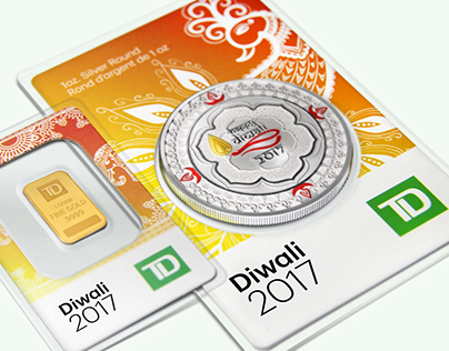 TD Diwali Commemorative Coin and Bar Packaging